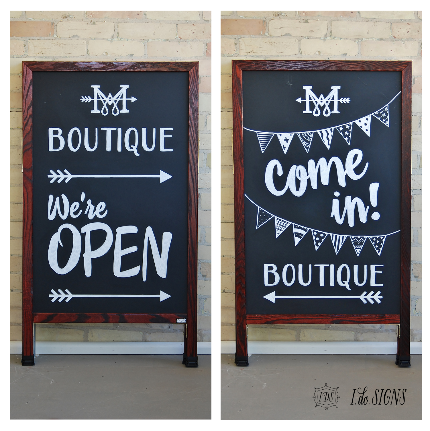 Store Banne Boutique Custom Business A Frame Sandwich Board Sign My Boutique