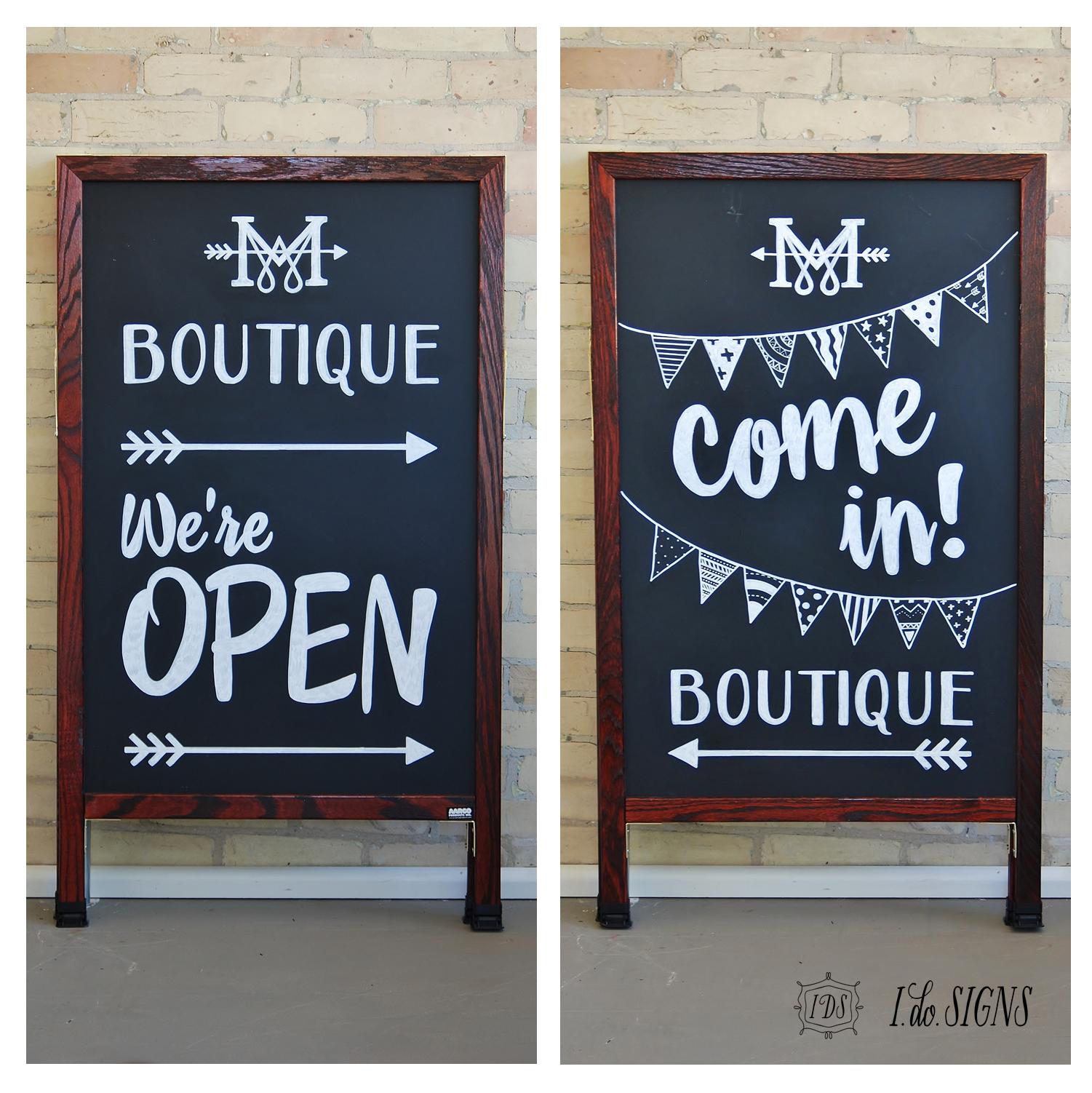 custom business a frame sandwich board sign