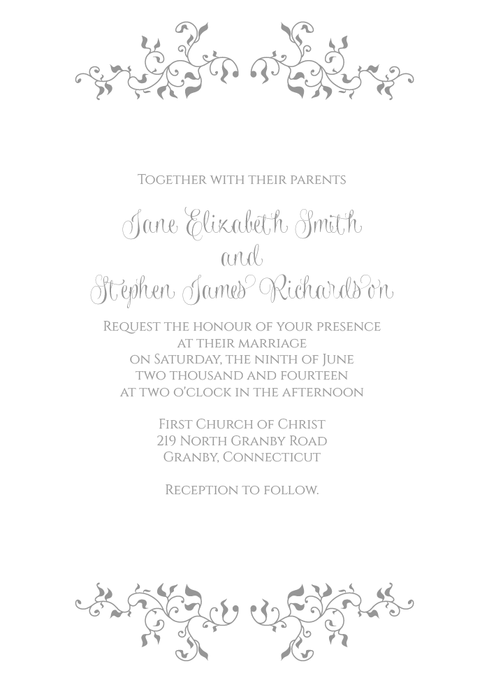 Free PDF Download - Stylized Foliage and Leaves Invitation. Easy to ...