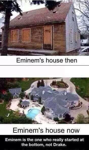 Eminems House Then Vs Now Roflcopter Eminem Eminem Funny