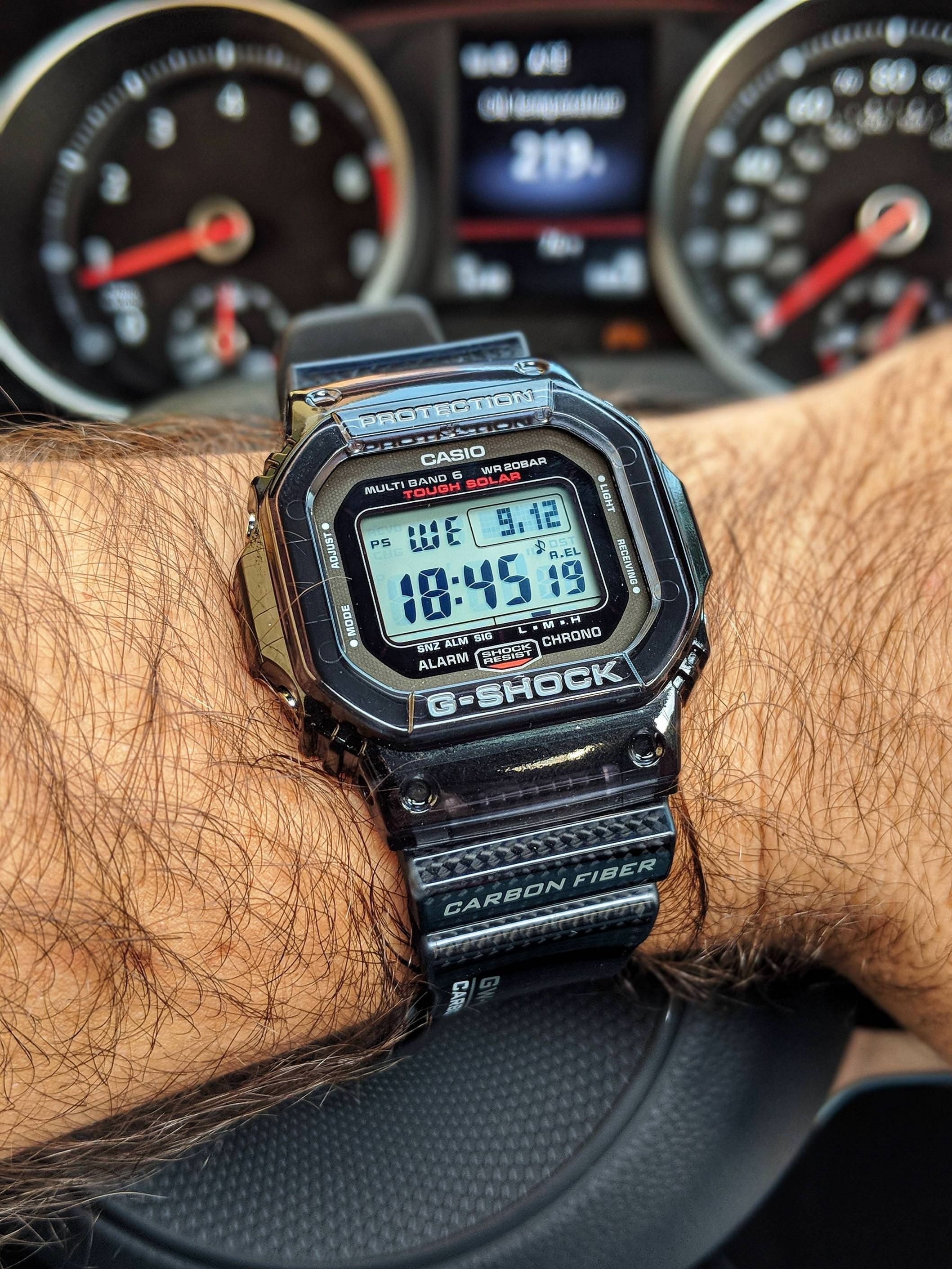 61b4324f00 Casio GW-S5600] Square Carbon Fiber! | Watches in 2019 | Casio ...