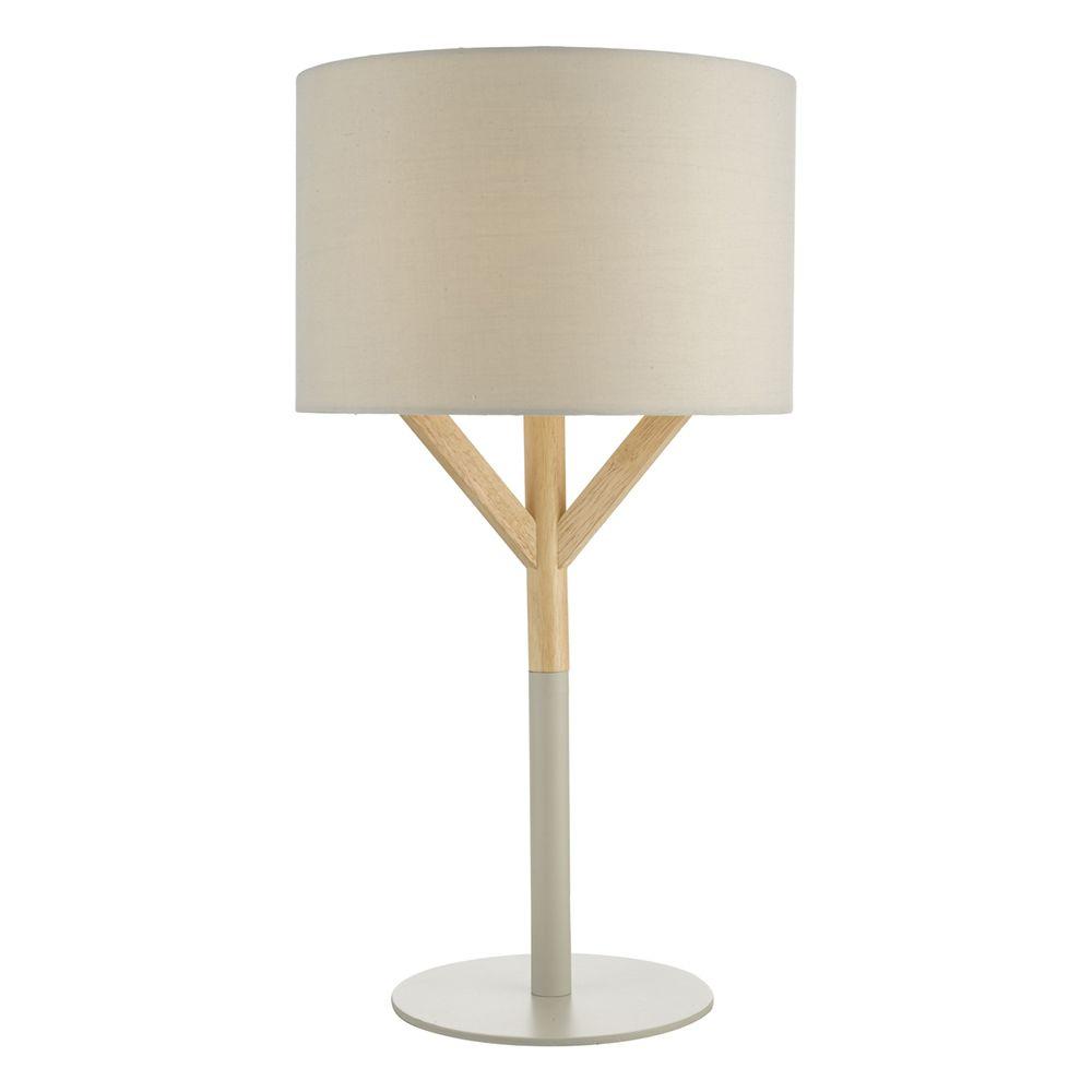Dar Eat4239 Eatu Wood And Grey Table Lamp In 2020 Grey Table