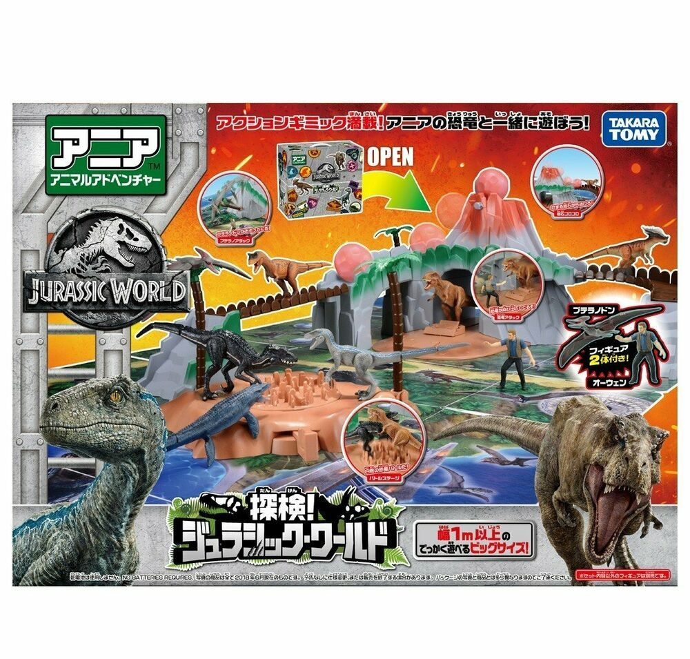 eBay #Sponsored Takara Tomy ANIA Expedition Jurassic Park World Animal Action Figure Playset #jurassicparkworld