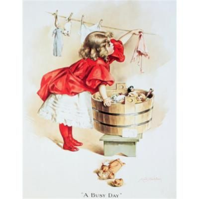 Ivory Soap Girl Washing Laundry Retro Vintage Tin Sign Sold by Our Campus Market