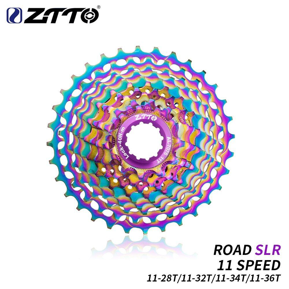 ZTTO MTB 11Speed SLR Colorful Cassette 11-28//32//34//36T Gravel Road Bike Flywheel