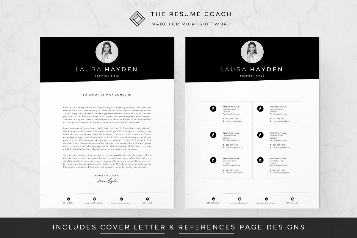 Ad Resume Template by TheResumeCoach on creativemarket