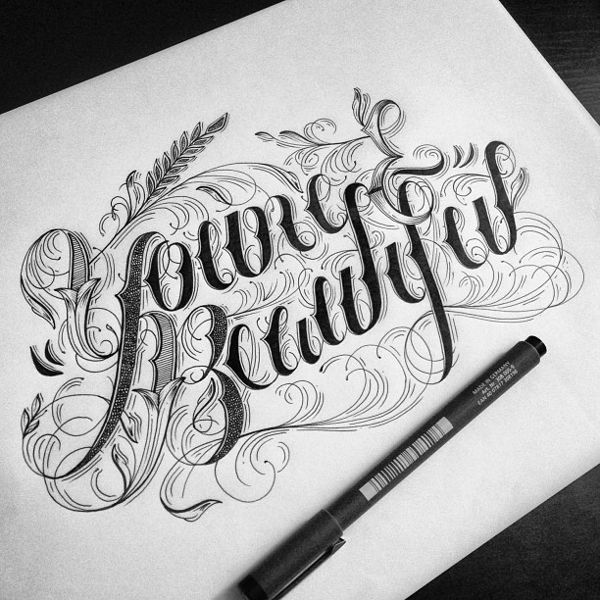 Hand lettering and typography by raul alejandro things i for Letter tattoos on hand