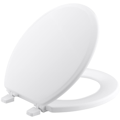 Kohler Ridgewood Round Toilet Seat White Plastic Hinges