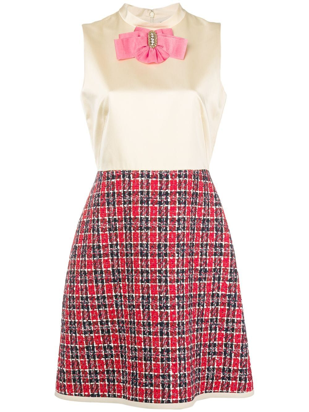 Gucci Bow Tweed Skirt Dress – Farfetch