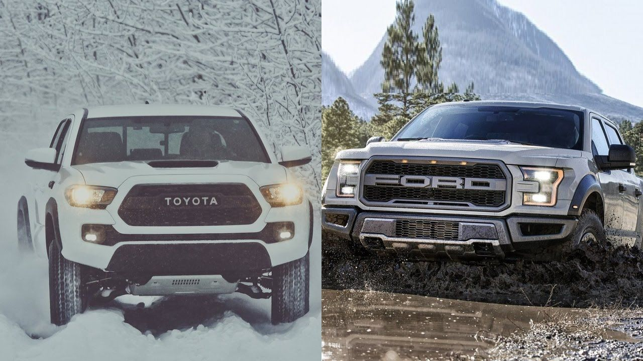 2017 Toyota Ta a TRD PRO vs 2017 Ford F 150 Raptor youtube