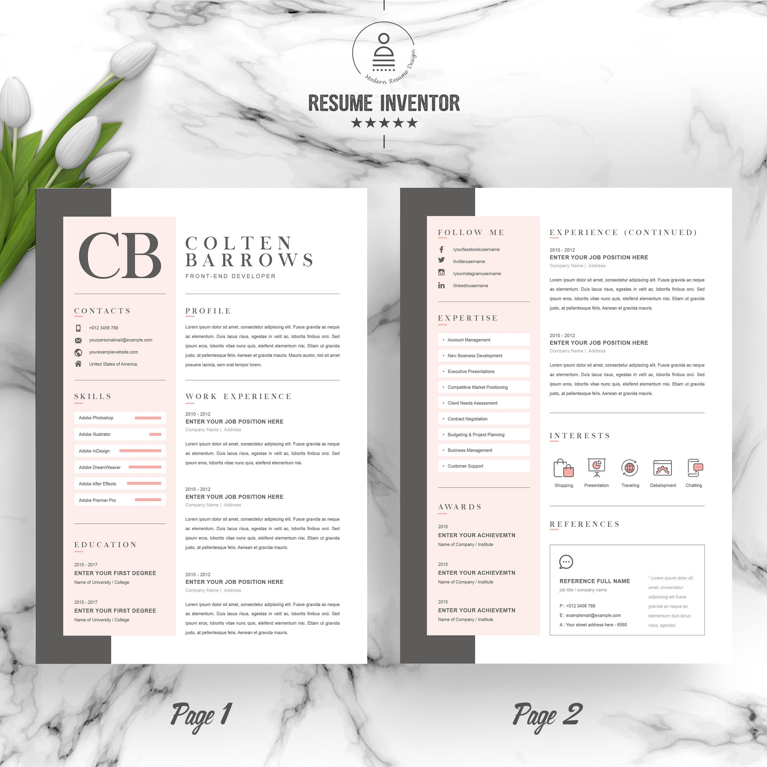 Creative Resume With Cover Letter Creative Resume Cover Letter Template Letter Templates