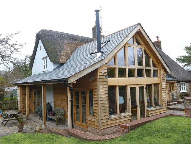 Glass extension thatched cottages google search for Cottage kitchen extensions