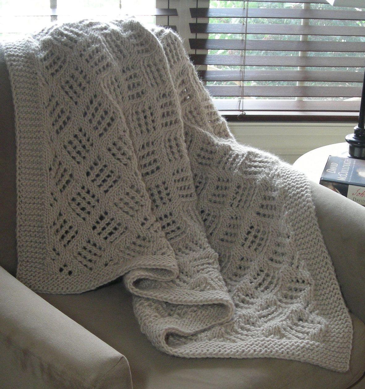 Easy Afghan Knitting Patterns | Manta, Lana y Tejido