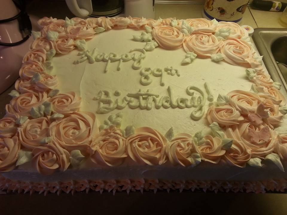 Sheet Cake With Rosettes Birthday Sheet Cakes Sheet Cake
