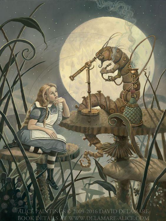 The Jabberwocky Poem Alice in Wonderland MEDIUM Giclée Art Print David Delamare