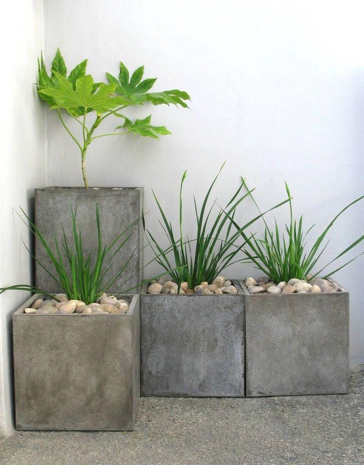 Outdoor Living Inspiration Concrete Garden Concrete Plant Pots Garden Pots