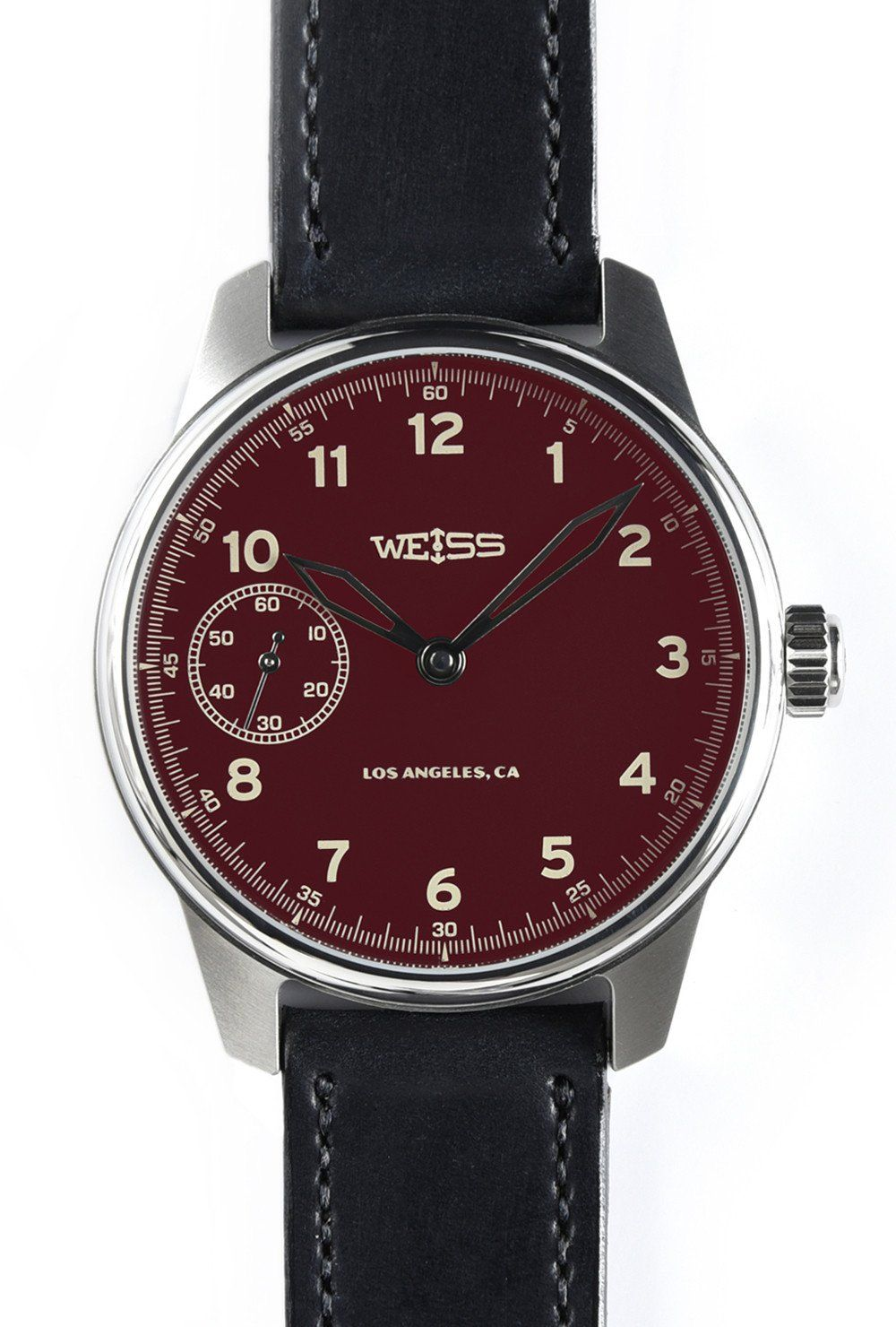 6a457847d Weiss Watch Company Deep Red Dial Special Issue Field Watch ...