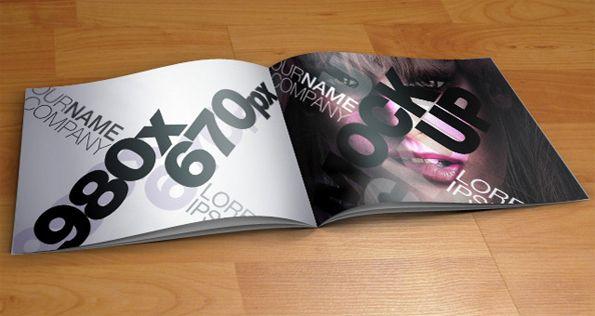 Catalogue PSD 3D Mockup Template Design Assets Pinterest
