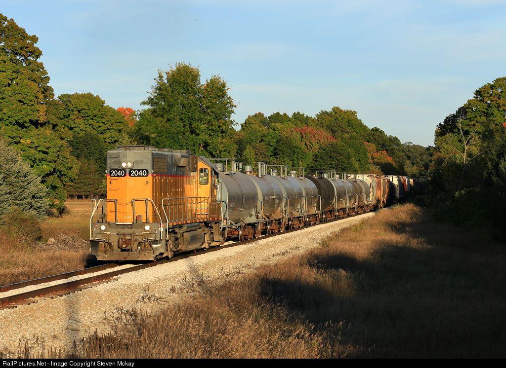 RailPictures.Net Photo: MQT 2040 Marquette Rail EMD GP38-2 at Custer, Michigan by Steven Mckay