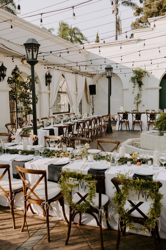 This Sophisticated Black and White Wedding at Villa & Vine is Giving Us Old Hollywood Vibes | Junebug Weddings - #Black #Giving #Hollywood #Junebug #Sophisticated #Vibes #Villa #Vine #Wedding #Weddings #White
