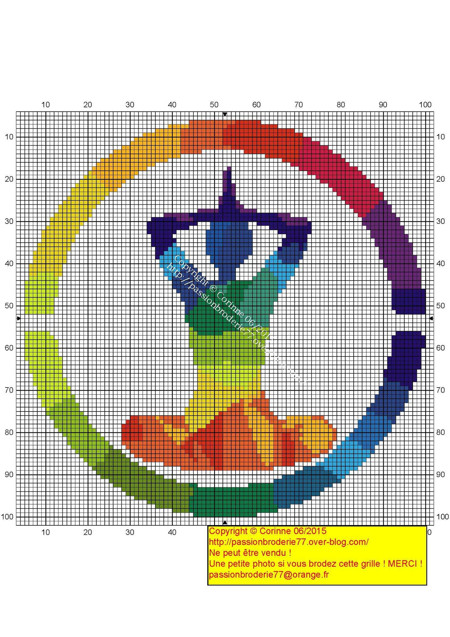 Rond milticolorpage om pinterest cross stitch stitch and