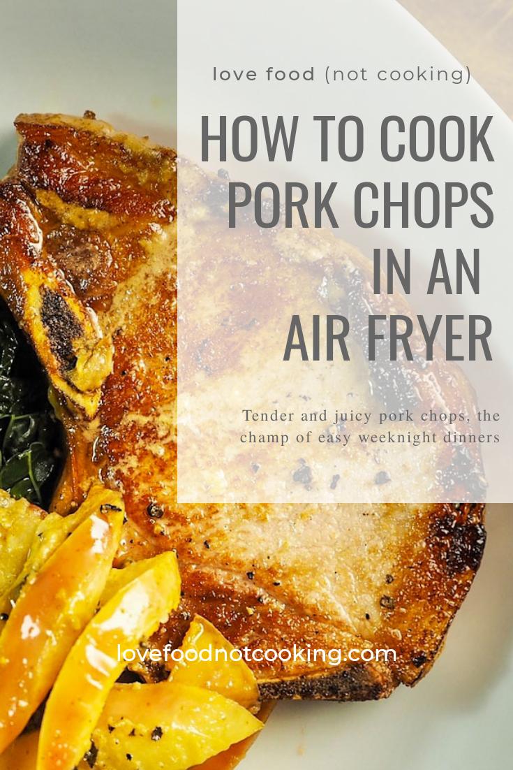 Air Fryer Pork Chops Recipe Air fryer pork chops, Pork