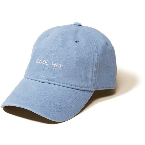 e6fe0e2f9184 Hollister Twill Dad Hat ($20) ❤ liked on Polyvore featuring men's fashion,  men's accessories, men's hats and blue