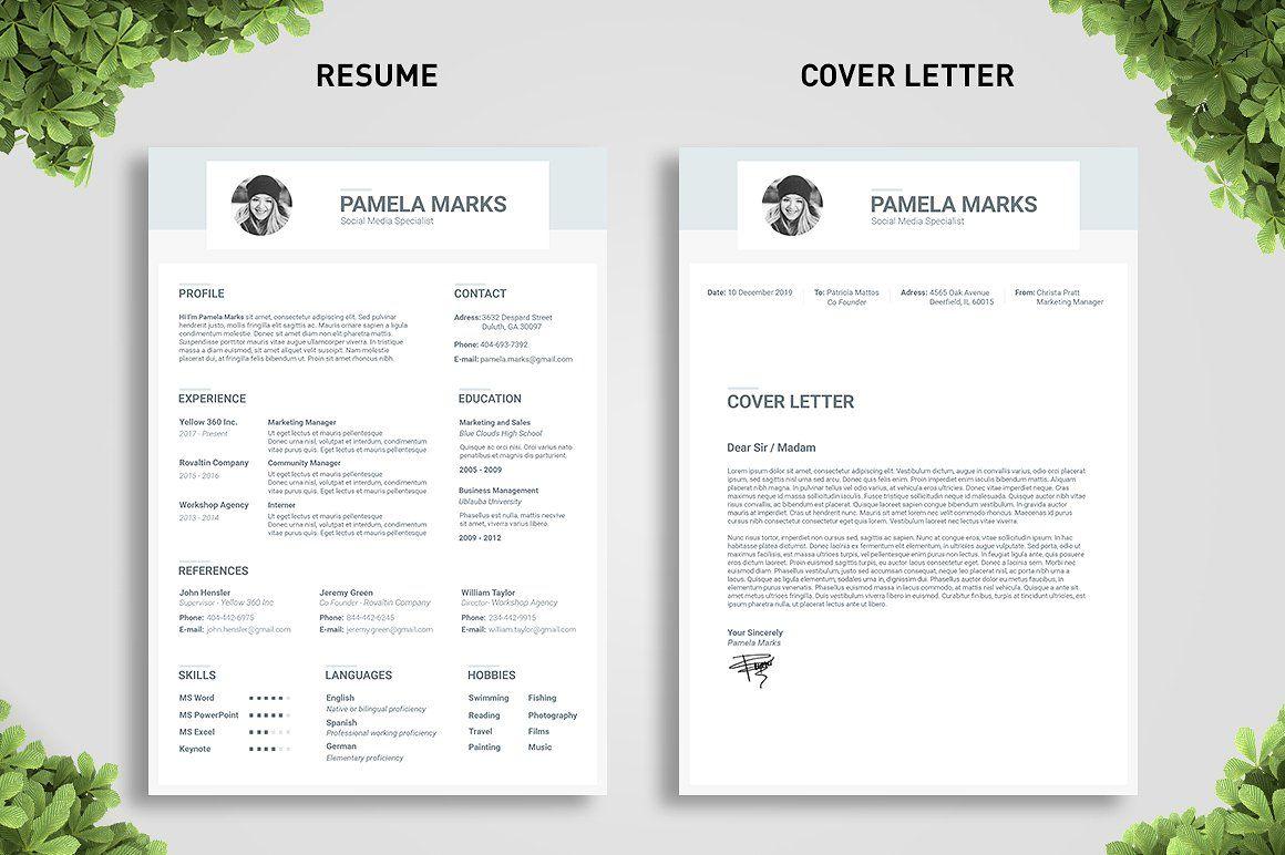 Ocean Resume Template Resume Template Cover Letter For Resume Resume