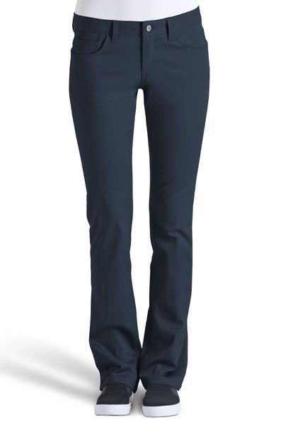 5 Pocket Navy Straight Leg Pant - Dickies Girl