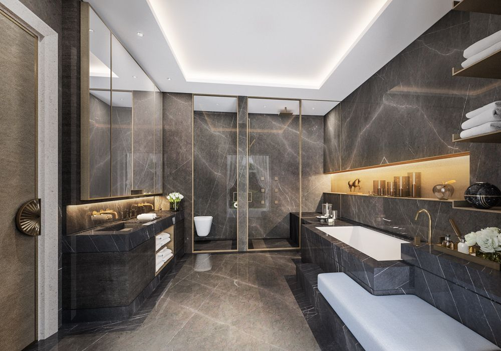 5 star hotel bathroom design 5 star hotel bathroom for Room design with bathroom