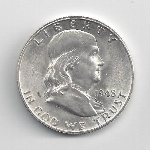 1948-D Uncirculated Franklin Half Dollar by Half Dollars, http://www.amazon.com/dp/B009ZDFJ18/ref=cm_sw_r_pi_dp_08S1qb1NZCG92