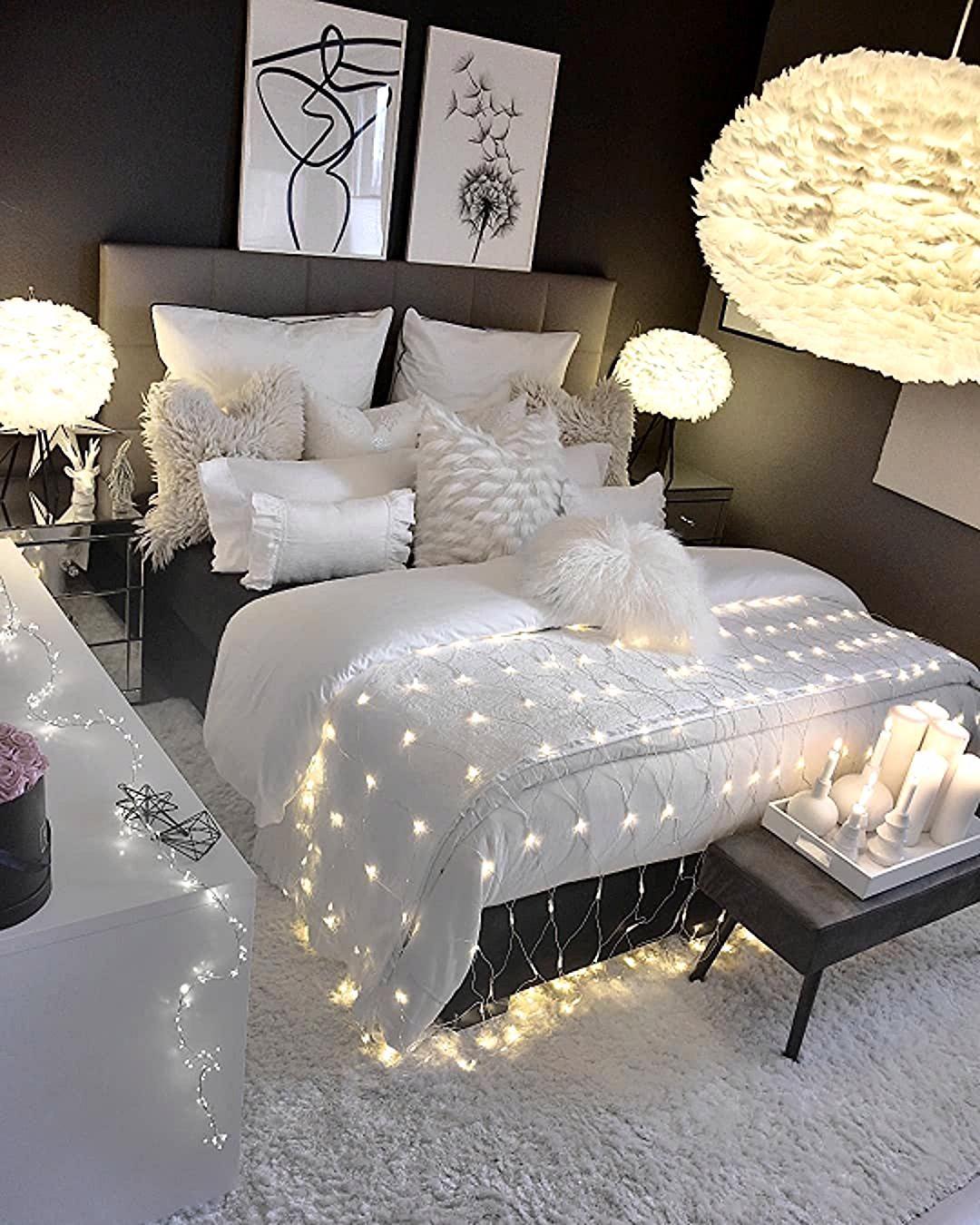 Schwarz Weisses Schlafzimmer Einrichten In 2020 Small Room
