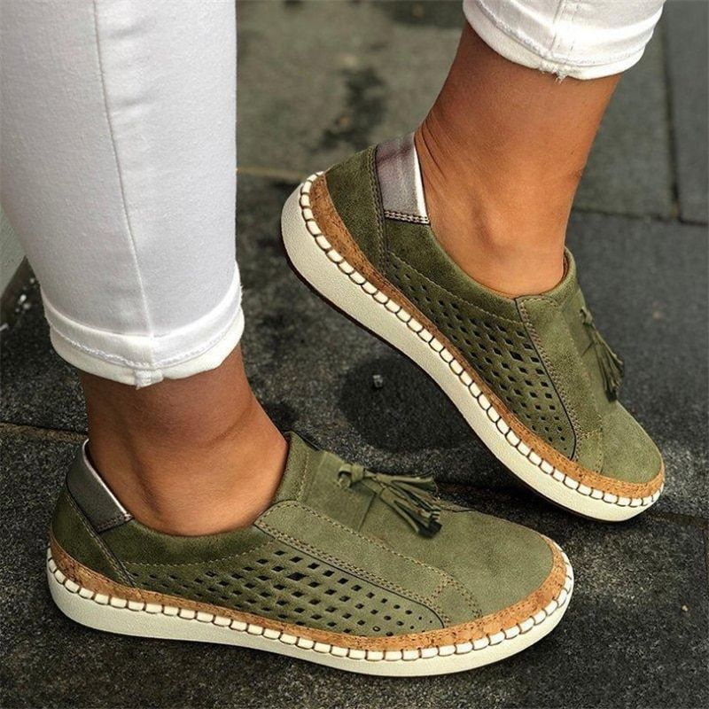 Casual Ladies Espadrilles Comfortable Flats Shoes – Yokest