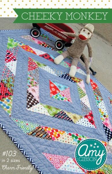 Cheeky Monkey Quilt Pattern Scrap Quilts Pinterest Baby Quilts