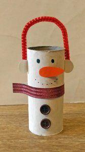 Bonhomme de neige avec cache-oreilles #rouleaupapiertoilettenoel