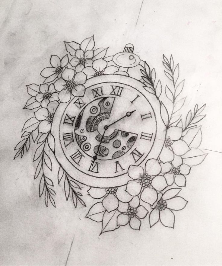 "Line Drawing Clock : Képtalálat a következőre ""pocket watch tattoo design"