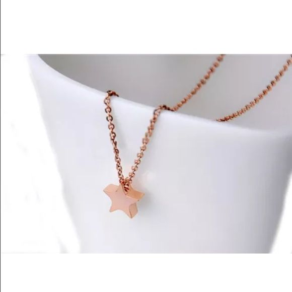 Star Charm Rose Gold Necklace GP Rose Gold Star Charm Necklace, NEW! COMING SOON! Jewelry Necklaces