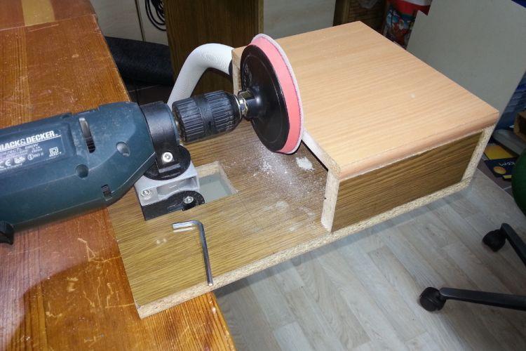 tellerschleifer mit bohrmaschine bauanleitung zum selberbauen 1 2 deine heimwerker. Black Bedroom Furniture Sets. Home Design Ideas