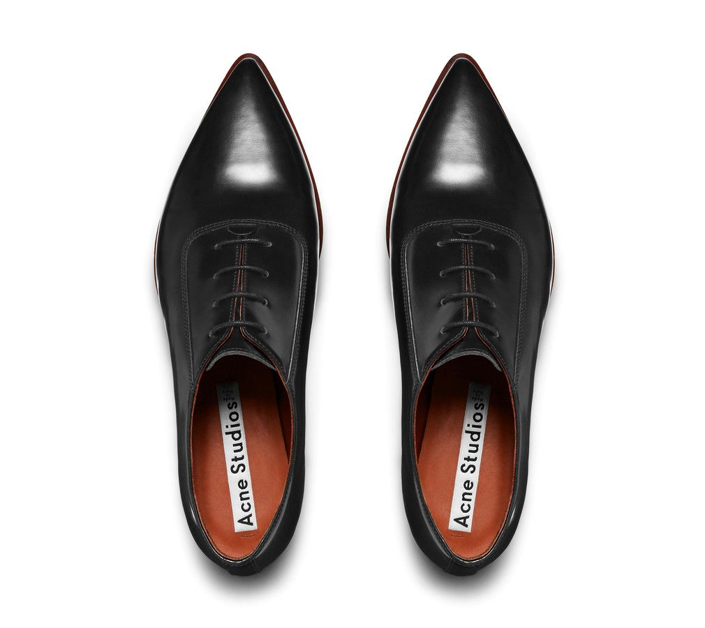 sast Acne Studios Leather Pointed-Toe Oxfords sale official cheap visit ZMv4yI