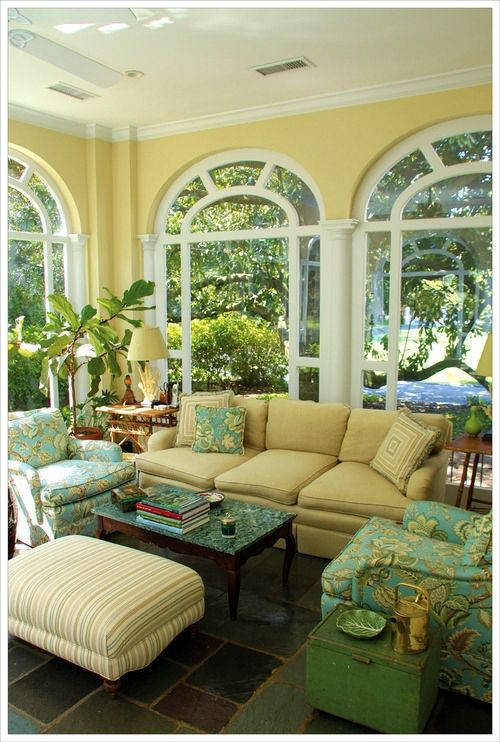 I Love Yellow Decor Sunroom Decorating Home Sunroom
