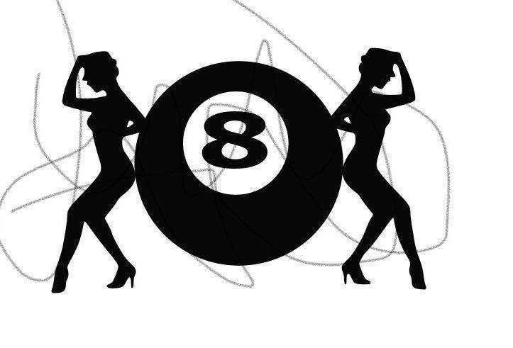 8 ball ladies 8 ball pool billiard svg digital