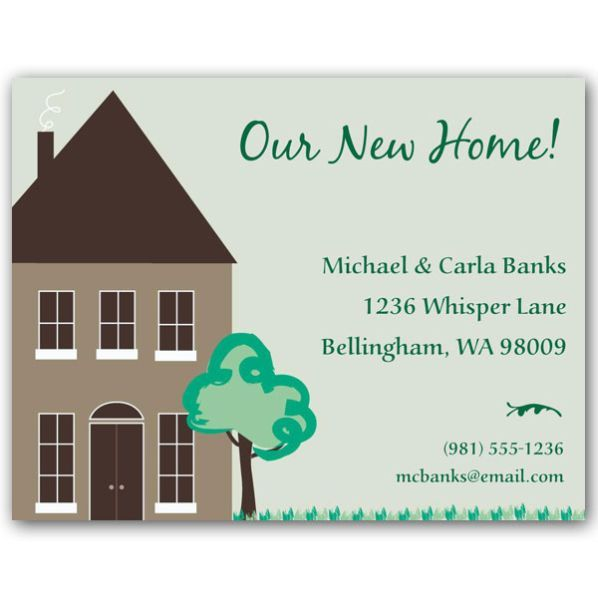 Our New Home Announcements Stationery Pinterest New House