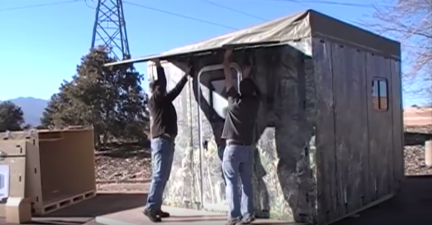 Bajo costo modular Bug fuera del refugio que se puede montar por 2 personas en menos de 30 minutos - The Good Superviviente