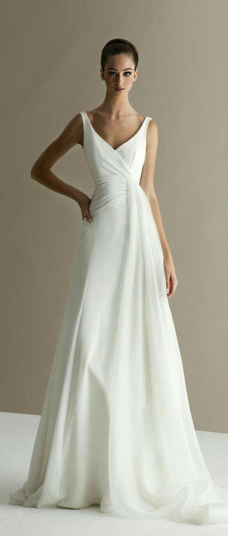 Simple elegant wedding dress designers  Pin by Maria Cecilia Rojas Landerretche on vestidos  Pinterest