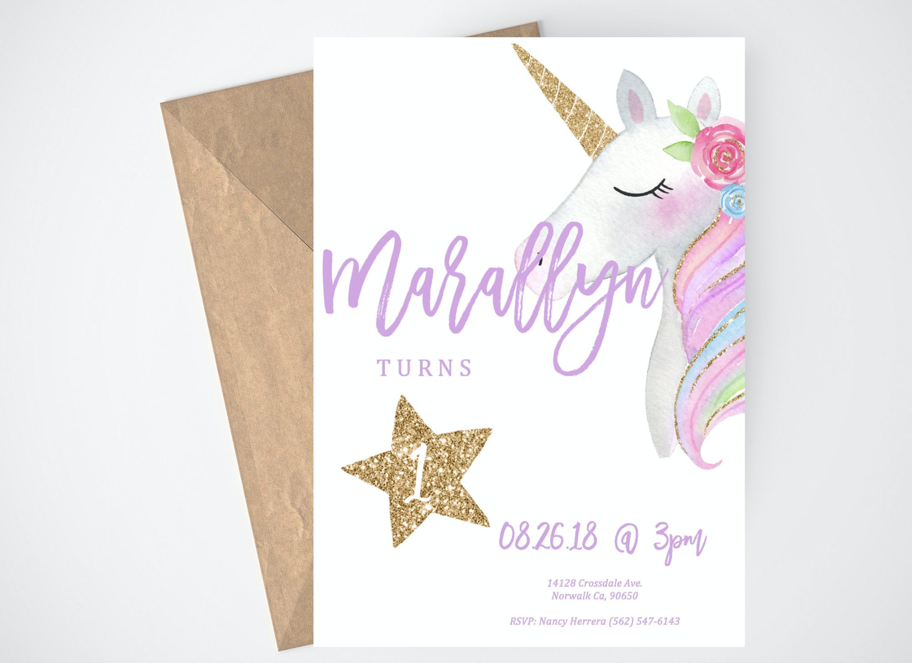 Unicorn Birthday Party Invitation - Unicorn birthday invitations, Printable unicorn invitations, Unicorn invitations, Unicorn birthday party invitation, Unicorn birthday parties, Printable birthday invitations - Happy Birthday! This unicorn birthday party invitation is a must have for your party! Featuring beautiful watercolor unicorn head, and gold accents, this printable invitation will set the perfect tone for your unicorn theme birthday party  The best part about this beautiful unicorn birthday party invitation  It's as easy as purchase, download, fill in and print! We love invitation templates that are instant downloads