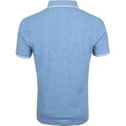 Photo of Suitable Jaspe Yarn Poloshirt Blau