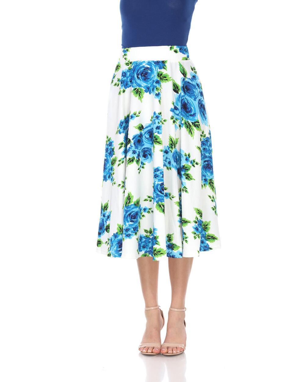 Flared Midi Skirt With Pockets Skirts Clothing Women Stein Mart Midi Flare Skirt Printed Midi Skirt Floral Print Midi Skirt [ 1250 x 1000 Pixel ]