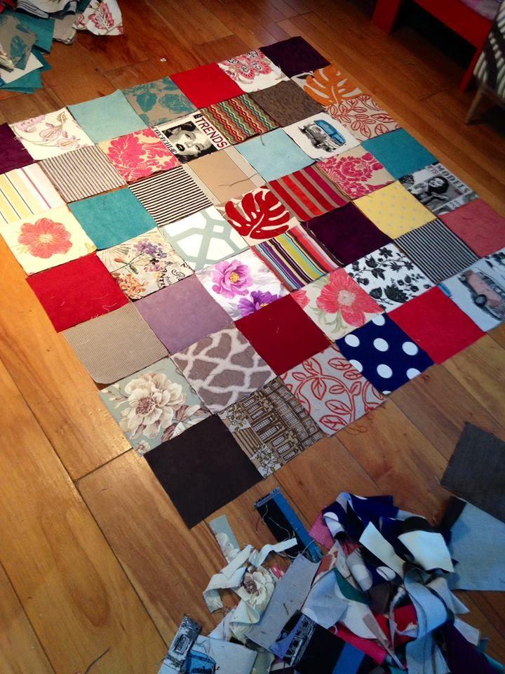 Cofeccionamos un patchwork exclusivo para decorar tus - Chinchetas para tapizar ...