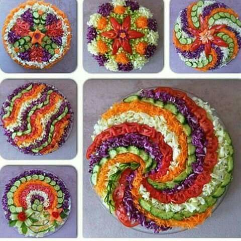 salad art of presentation 10 mizna yemek eating salads pinterest salat essen und gem se. Black Bedroom Furniture Sets. Home Design Ideas