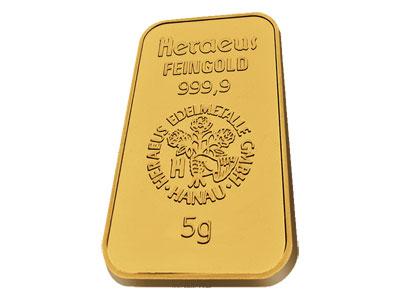 Heraeus 5 Gram Gold Bar Gold Bullion Bars Buy Gold And Silver Gold Bullion